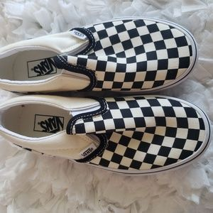 Vans Slip On Checkerboard Skate Shoe - Little Kid